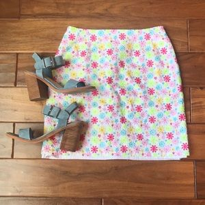 Lilly Pulitzer Neon Floral Pattern Skirt